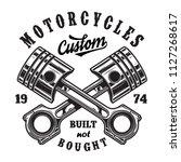 vintage motorcycle workshop... | Shutterstock .eps vector #1127268617