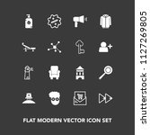 modern  simple vector icon set... | Shutterstock .eps vector #1127269805