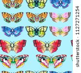 butterfly watercolor... | Shutterstock . vector #1127271254