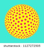 colorful dotted sphere... | Shutterstock .eps vector #1127272505