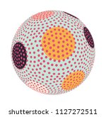 asian style dotted sphere... | Shutterstock .eps vector #1127272511