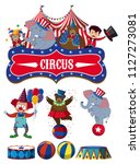 a set of circus element... | Shutterstock .eps vector #1127273081