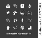 modern  simple vector icon set... | Shutterstock .eps vector #1127273375