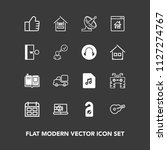 modern  simple vector icon set... | Shutterstock .eps vector #1127274767