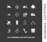 modern  simple vector icon set... | Shutterstock .eps vector #1127277071