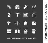 modern  simple vector icon set... | Shutterstock .eps vector #1127277107