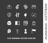modern  simple vector icon set... | Shutterstock .eps vector #1127278244
