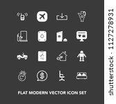 modern  simple vector icon set... | Shutterstock .eps vector #1127278931