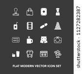 modern  simple vector icon set...   Shutterstock .eps vector #1127282387