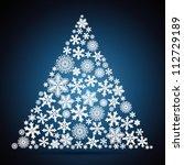 christmas tree  snowflake... | Shutterstock .eps vector #112729189
