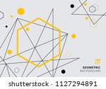 abstract yellow and black... | Shutterstock .eps vector #1127294891