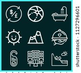 set of 9 holidays outline icons ...   Shutterstock .eps vector #1127296601