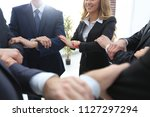 closeup. unified business team . | Shutterstock . vector #1127297294