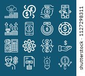 set of 16 dollar outline icons... | Shutterstock .eps vector #1127298311