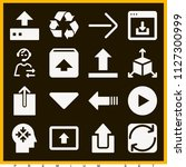 set of 16 arrows filled icons... | Shutterstock .eps vector #1127300999