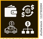 set of 4 money filled icons... | Shutterstock .eps vector #1127302004
