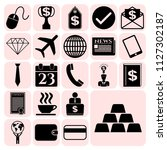 set of 22 business related... | Shutterstock .eps vector #1127302187