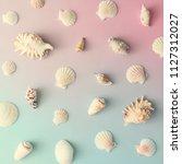 Creative seashell pattern on...