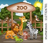 vector illustration of a zoo... | Shutterstock .eps vector #1127326781