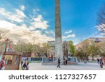 view of walled obelisk ... | Shutterstock . vector #1127327657
