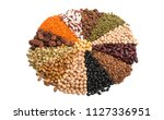 set of legumes isolated on... | Shutterstock . vector #1127336951