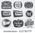set of premium quality and... | Shutterstock .eps vector #112733779