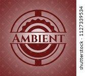 ambient vintage red emblem | Shutterstock .eps vector #1127339534