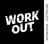 workout athletic sport... | Shutterstock .eps vector #1127341181