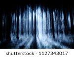 dark blue scary forest... | Shutterstock . vector #1127343017