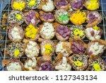 thai coconut pudding  kanom... | Shutterstock . vector #1127343134