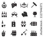 wine icons. black scribble...   Shutterstock .eps vector #1127346371