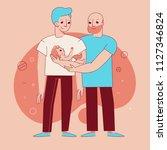 vector illustration in trendy... | Shutterstock .eps vector #1127346824