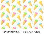 ice cream . vector seamless... | Shutterstock .eps vector #1127347301