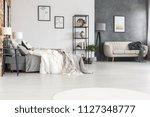 black furniture  stylish sofa...   Shutterstock . vector #1127348777