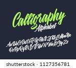 calligraphy lettering font....   Shutterstock .eps vector #1127356781