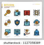 bitcoin icon set | Shutterstock .eps vector #1127358389
