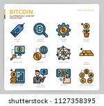 bitcoin icon set | Shutterstock .eps vector #1127358395