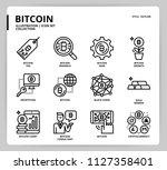 bitcoin icon set | Shutterstock .eps vector #1127358401