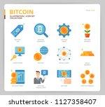 bitcoin icon set | Shutterstock .eps vector #1127358407