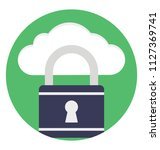 flat icon representing cloud...   Shutterstock .eps vector #1127369741