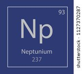 neptunium np chemical element... | Shutterstock .eps vector #1127370287