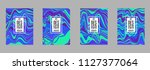 covers templates set with...   Shutterstock .eps vector #1127377064