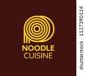 cuisine ramen noodle... | Shutterstock .eps vector #1127390114