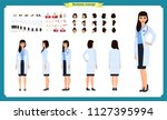 female doctor character... | Shutterstock .eps vector #1127395994
