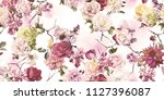 seamless floral pattern with... | Shutterstock . vector #1127396087