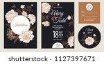 templates of wedding... | Shutterstock .eps vector #1127397671
