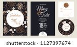 templates of wedding... | Shutterstock .eps vector #1127397674