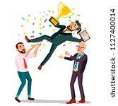winner businessman vector.... | Shutterstock .eps vector #1127400014