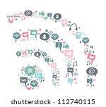 sign of social media | Shutterstock .eps vector #112740115