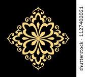 golden vector pattern on a... | Shutterstock .eps vector #1127402021